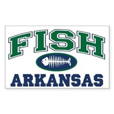 FISH ARKANSAS Rectangle Decal