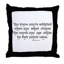 Scrabble Points Throw Pillow