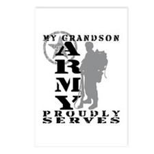 Grandson Proudly Serves 2 - ARMY Postcards (Packag