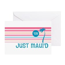 Stripe Just Maui'd '09 Greeting Card