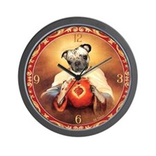 Pug Sacred Heart Wall Clock