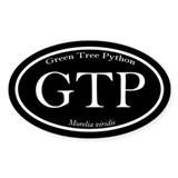 Black GTP oval sticker (with scientific name)