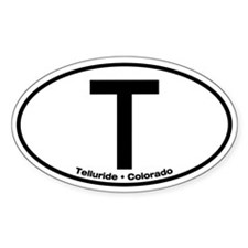 telluride oval sticker