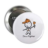 Orange Ribbon - Fighter Boy Button