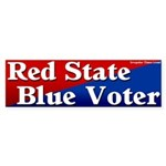 Kentucky Red State Blue Voter Sticker