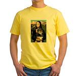 MonaLisa-Aussie Shep (Tri-L) Yellow T-Shirt