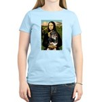 MonaLisa-Aussie Shep (Tri-L) Women's Light T-Shirt
