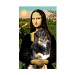 MonaLisa-Aussie Shep (Tri-L) Sticker (Rectangle)