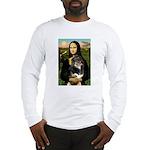 MonaLisa-Aussie Shep (Tri-L) Long Sleeve T-Shirt