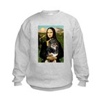 MonaLisa-Aussie Shep (Tri-L) Kids Sweatshirt