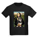 MonaLisa-Aussie Shep (Tri-L) Kids Dark T-Shirt