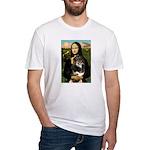 MonaLisa-Aussie Shep (Tri-L) Fitted T-Shirt