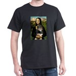 MonaLisa-Aussie Shep (Tri-L) Dark T-Shirt