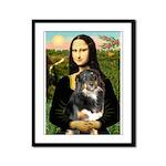 MonaLisa-Aussie Shep (Tri-L) Framed Panel Print