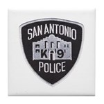San Antonio PD Canine Tile Coaster