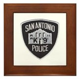 San Antonio PD Canine Framed Tile