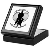 luv my handler Keepsake Box
