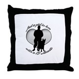 luv my handler Throw Pillow