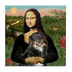 MonaLisa-Aussie Shep (Tri-L) Tile Coaster
