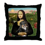 MonaLisa-Aussie Shep (Tri-L) Throw Pillow