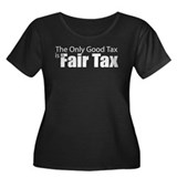 Only Good Tax Women's Plus Size Scoop Neck Dark T-