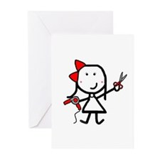 Girl & Hair Dryer Greeting Cards (Pk of 20)