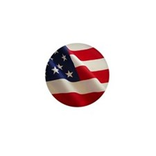 Cute Usa flag pin Mini Button (10 pack)