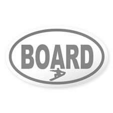 Snowboarder Oval Decal