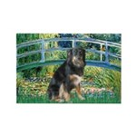 Bridge-Aussie Shep - Tri (L) Rectangle Magnet