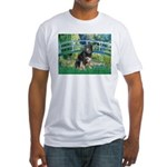 Bridge-Aussie Shep - Tri (L) Fitted T-Shirt