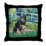 Bridge-Aussie Shep - Tri (L) Throw Pillow