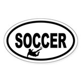 Soccer Player Oval Decal