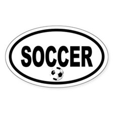 Soccer Ball Oval Bumper Stickers