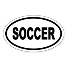Basic Soccer Oval Decal