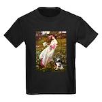 Windflowers-AussieShep (L) Kids Dark T-Shirt
