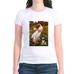 Windflowers-AussieShep (L) Jr. Ringer T-Shirt