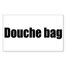 Douche Bag Rectangle Decal