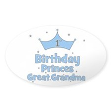 1st Birthday Princes Great Gr Oval Decal