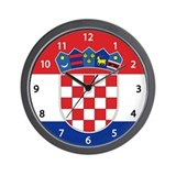 Croatia Flag Wall Clock