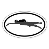 SWIM Swimmer Oval Decal