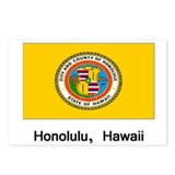 Honolulu HA Flag Postcards (Package of 8)