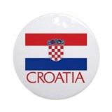 Croatia Flag (C) Ornament (Round)