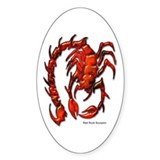 Red Rock Scorpion Oval Decal