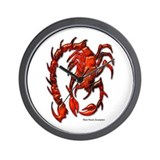 Red Rock Scorpion Wall Clock