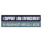 Support Law Enforcement Bumper Sticker