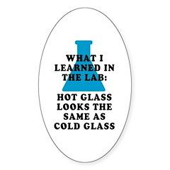 Lab Glass Sticker (Oval)
