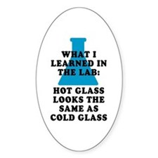 Lab Glass Oval Decal