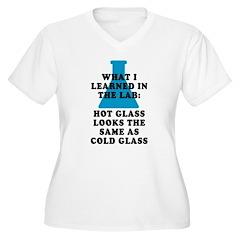 Lab Glass Women's Plus Size V-Neck T-Shirt