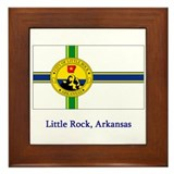 Little Rock AR Flag Framed Tile