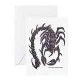 Cold Forged Steel Scorpion Greeting Cards (Package